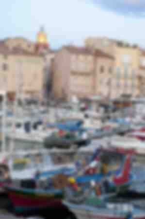 Vista sul porto di St Tropez