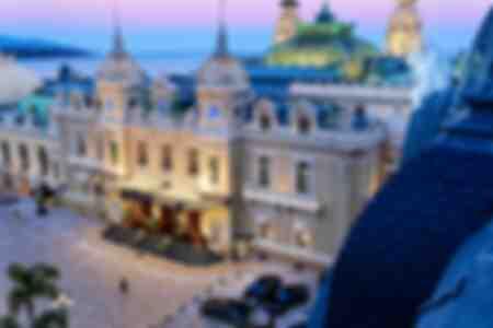 Vogelperspectief van het casino van Monte Carlo