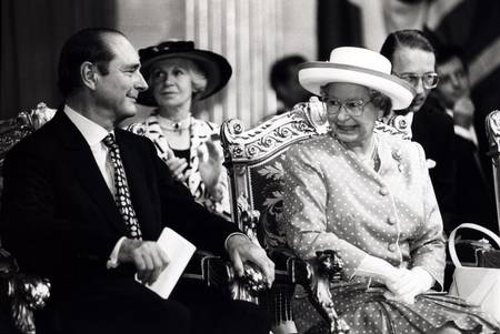 Jacques Chirac and Queen Elizabeth II