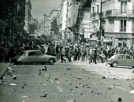 May 1968 - after clashes in the Latin Quarter