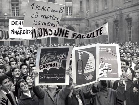 Manifestation Sorbonne - mai 68