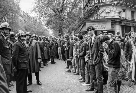 Police and students in May 1968