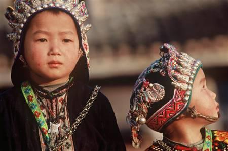 Portrait d'enfants - minorité Dongs