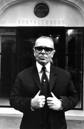 Portrait de Karl Lagerfeld