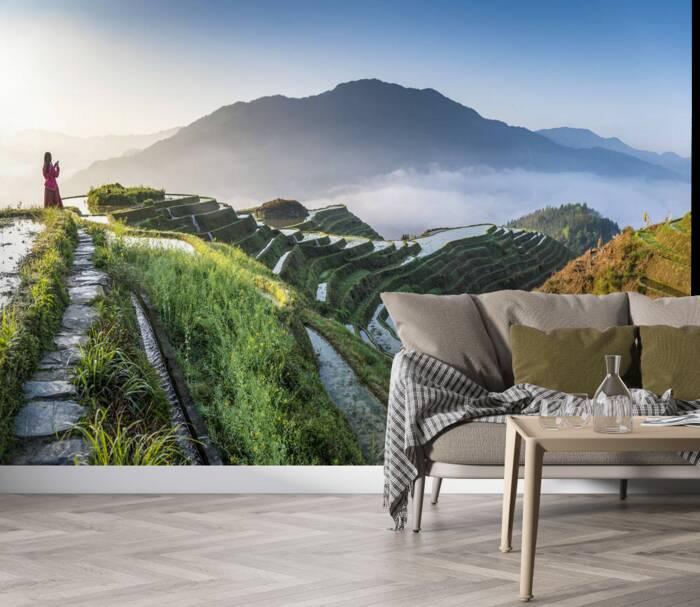 Guangxi en la tierra de las colinas de pie