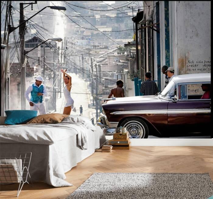 Geen Cubaanse salsa in een straat in het Tivoli district...