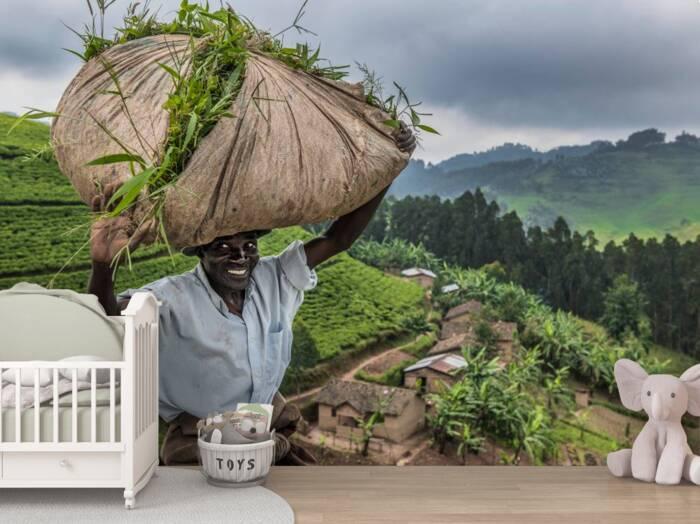 Villagers near the tea fields