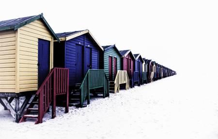 Beach Huts on Muizenberg