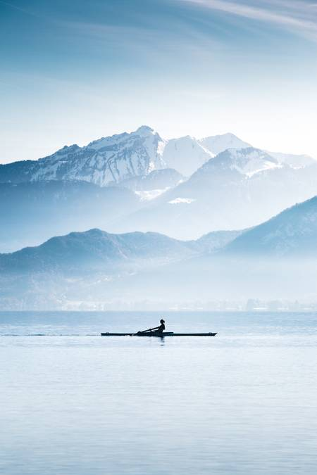 Blue morning in Annecy