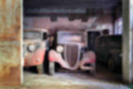 Abandoned Vintage Cars in Garage