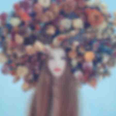 Porträt in Blumen