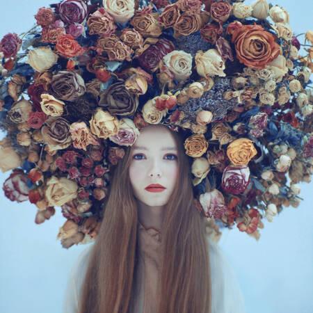 portrait in flowers
