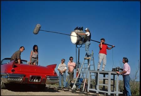 Ambiance on the set of La Fille des Collines 1988