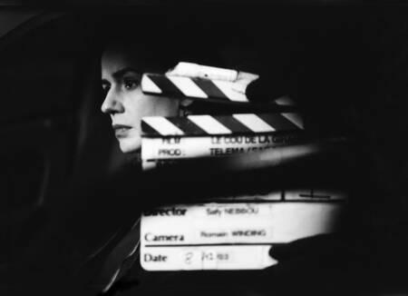 Sandrine Bonnaire lors d'un tournage