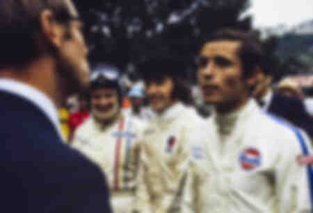 Bruce McLaren Jackie Stewart and Jacky Ickx