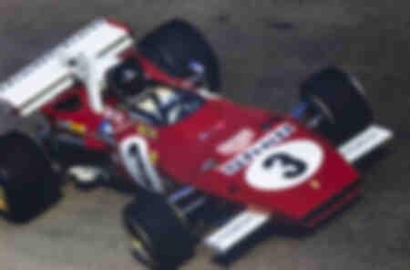 Jacky Ickx at the wheel of the Ferrari 312B