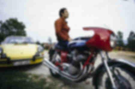 Jacky Ickx sulla sua motocicletta del 1972