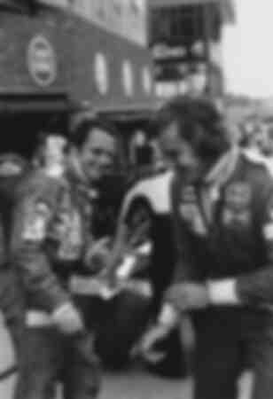 Niki Lauda e James Hunt nel 1976