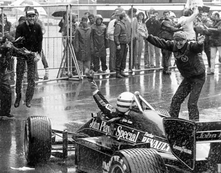 Ayrton Senna at the Portuguese Grand Prix
