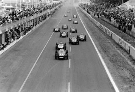 Départ du Grand Prix de France à Reims en 1960