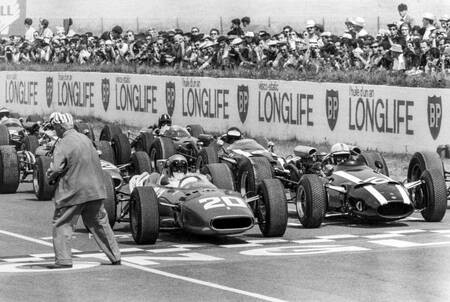 Départ du Grand prix de France en 1966