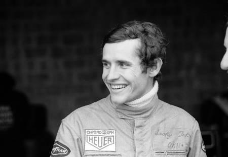 Le pilote Jacky Ickx au championnat du monde F1