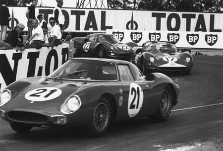 Masten Gregory au Mans en 1965 en Ferrari
