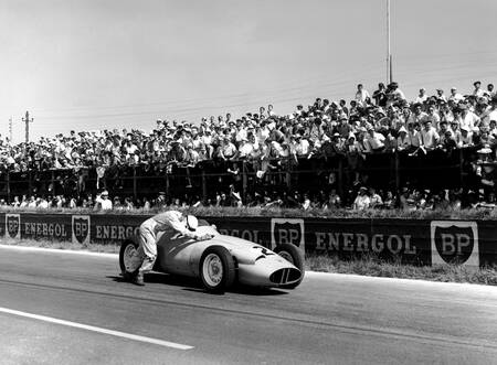 Stirling Moss en panne - Grand prix de France 1959