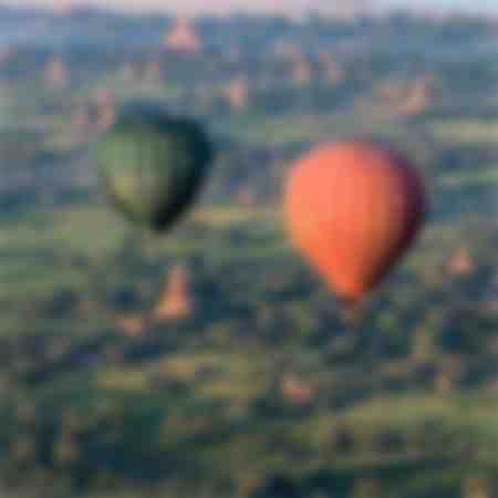 in a balloon over Bagan