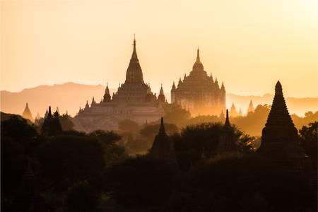 Sunset in Bagan