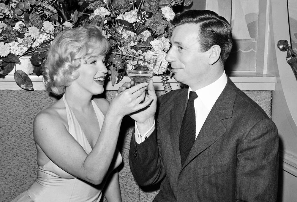 Marilyn Monroe et Yves Montand en 1960 - Agence France-presse ...