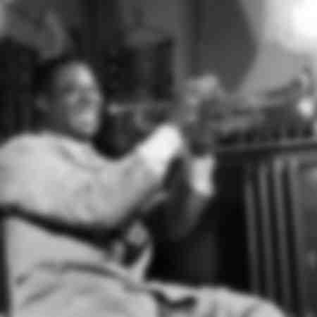 Amerikansk jazzman Louis Armstrong på 1950-talet