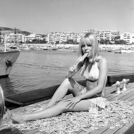 France Gall on holidays in Cannes