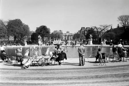 Jardin des Tuileries dans les années 1950