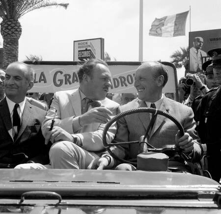 The stars of La Grande Vadrouilles at Cannes in 1966