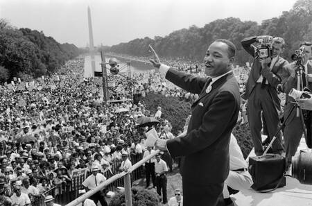 Martin Luther King on the Washington Esplanade in 1963