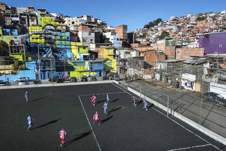 Football match in Brazil