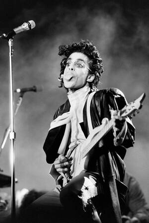 Prince in concert at Bercy - 1987