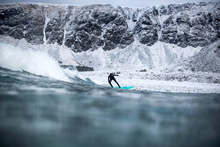 Surfer in Norway