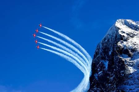 La patrouille Suisse et L'Eiger