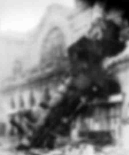 Train épave à la gare Montparnasse