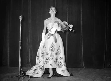 Audrey Hepburn at the Tuschinski Theater