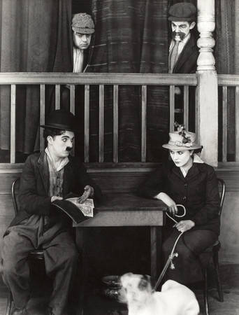 Charlie Chaplin and Edna Purviance in 1918