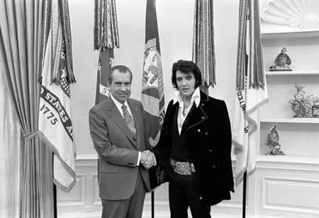Elvis et Nixon en 1970