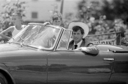Jean-Paul Belmondo sul set di La Novice
