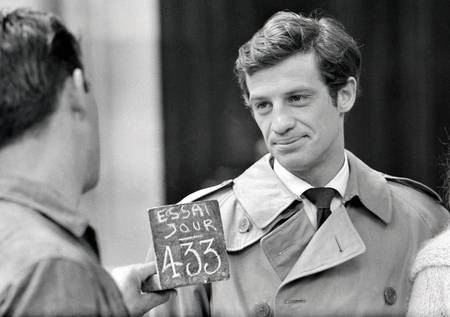 Jean-Paul Belmondo sur le tournage des Distractions