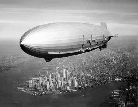 USS Macon over New York Harbor
