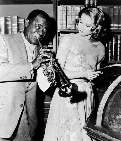 Louis Armstrong and Grace Kelly in 1956