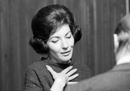 Maria Callas in rehearsal