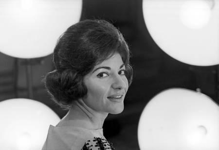 Maria Callas en séance photo